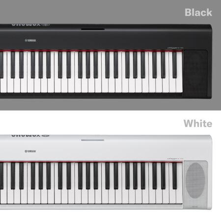 a black and white keyboard