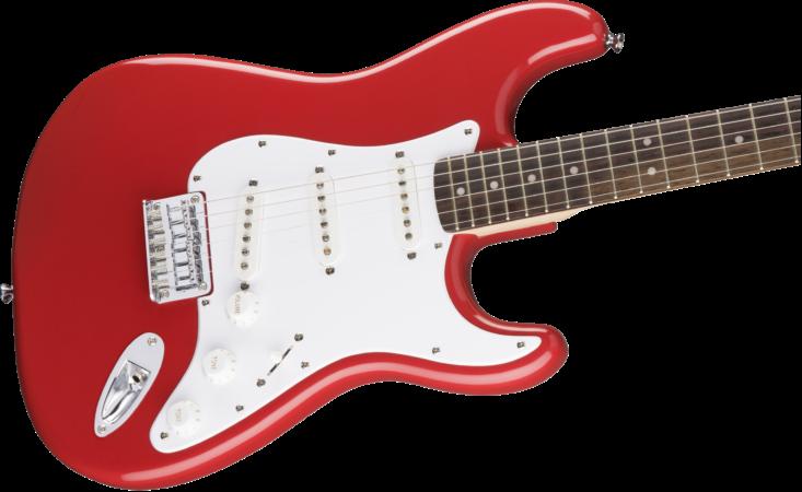 a white electric guitar
