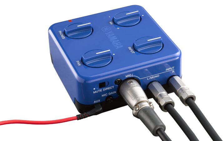 a blue electronic device