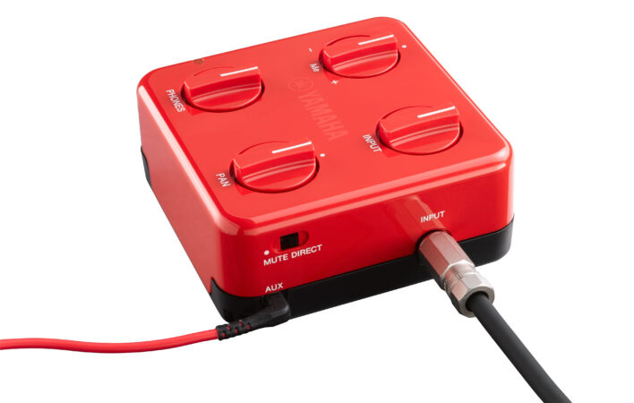 a red and black electronic device