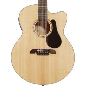a brown acoustic guitar