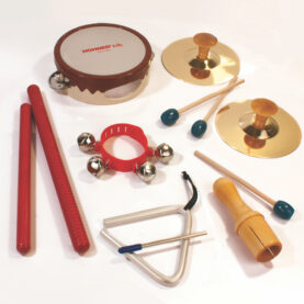 a group of different colored objects
