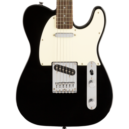 a guitar with a black neck