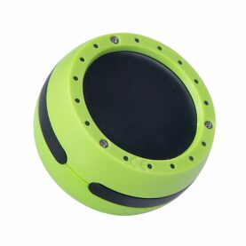 a green and black speaker
