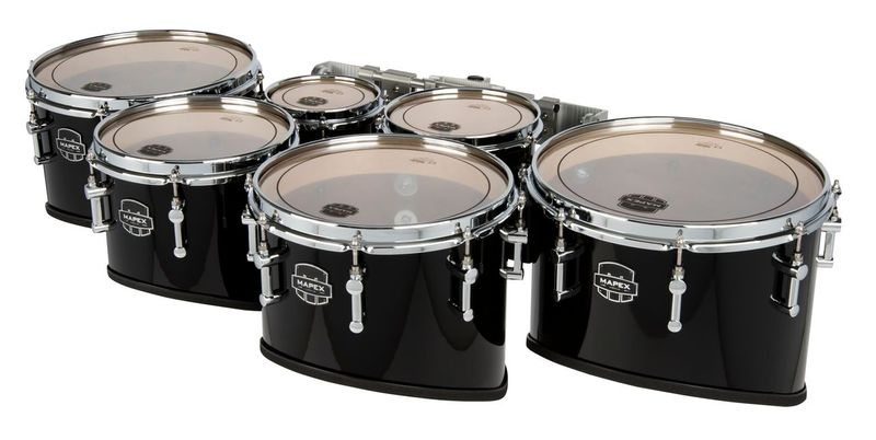 a drum set with a white background