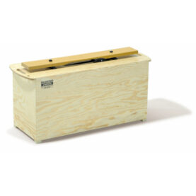 a wooden box with a lid