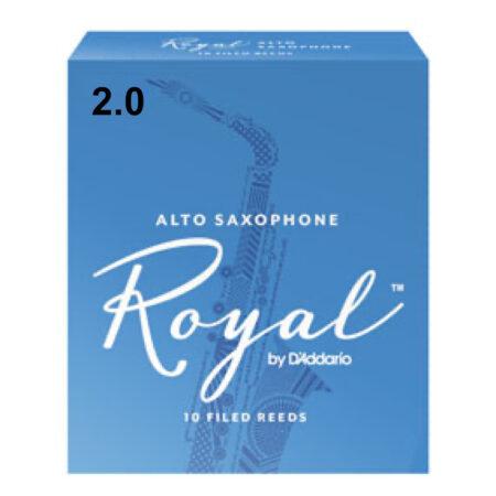 2.0 ALTO SAXOPHONE Royal by DAddario 10 FILED REEDS