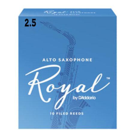 2.5 ALTO SAXOPHONE Royal by DAddario 10 FILED REEDS