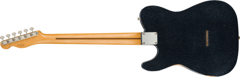 a black and yellow guitar