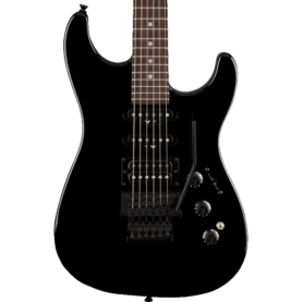 a guitar with wires