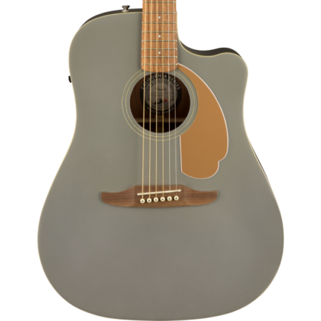 a white guitar with a brown neck
