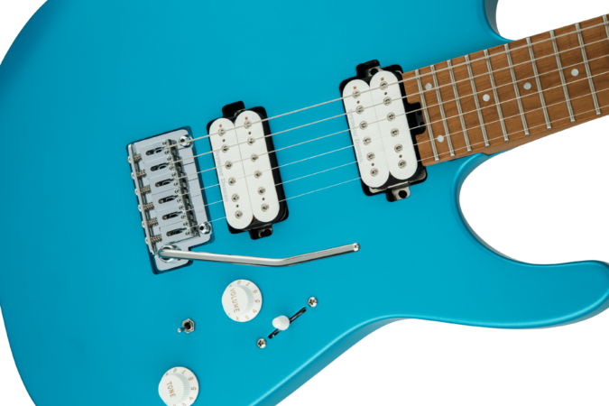 a guitar with a string