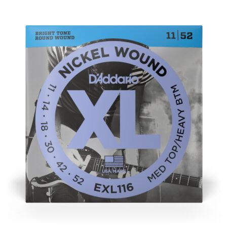 *BRIGHT TONE 11|52 ROUND WOUND NICKEL WOUND DAddario . . 0. 42. USA /MALE EXL116 MED TOP/HEAVY BTM