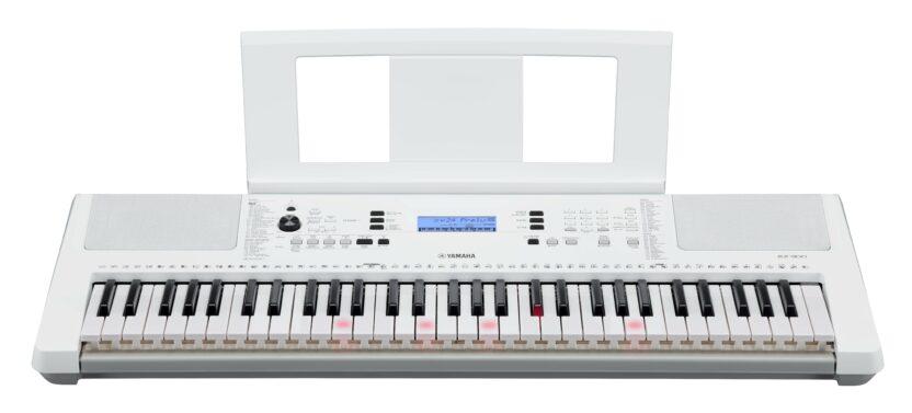 a white and black keyboard
