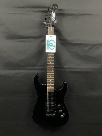 a guitar with a blue light