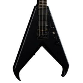 a black electric guitar