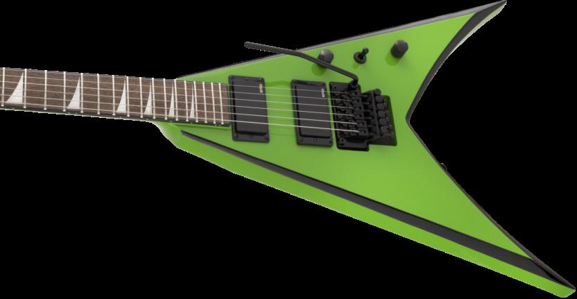 a green electric guitar