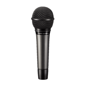 a microphone with a black background