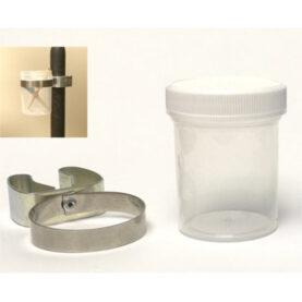 a glass jar and a glass jar
